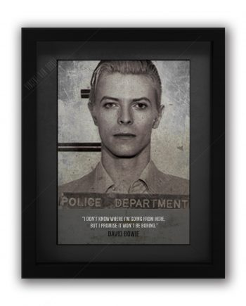 David Bowie Mugshot Print