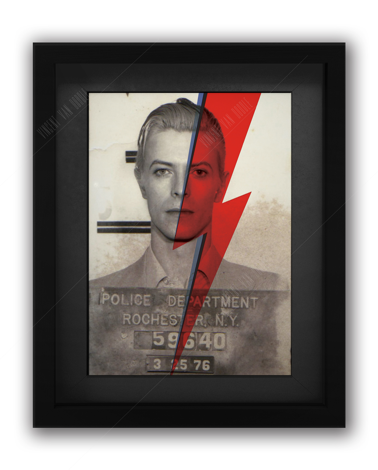 David Bowie Flash Mugshot Print