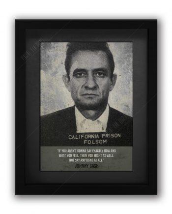 Johnny Cash Mugshot Print