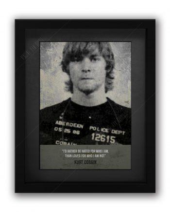 Kurt Cobain Mugshot Print