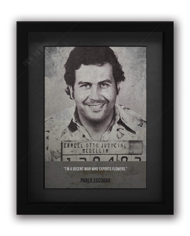 Escobar-Black-Framed-Mugshot