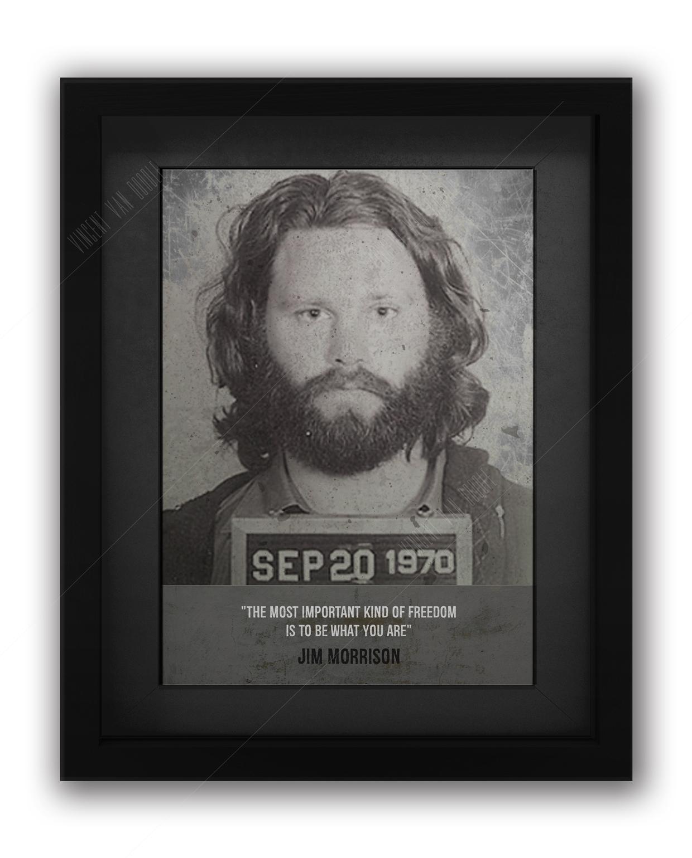 Jim Morrison Mugshot Print