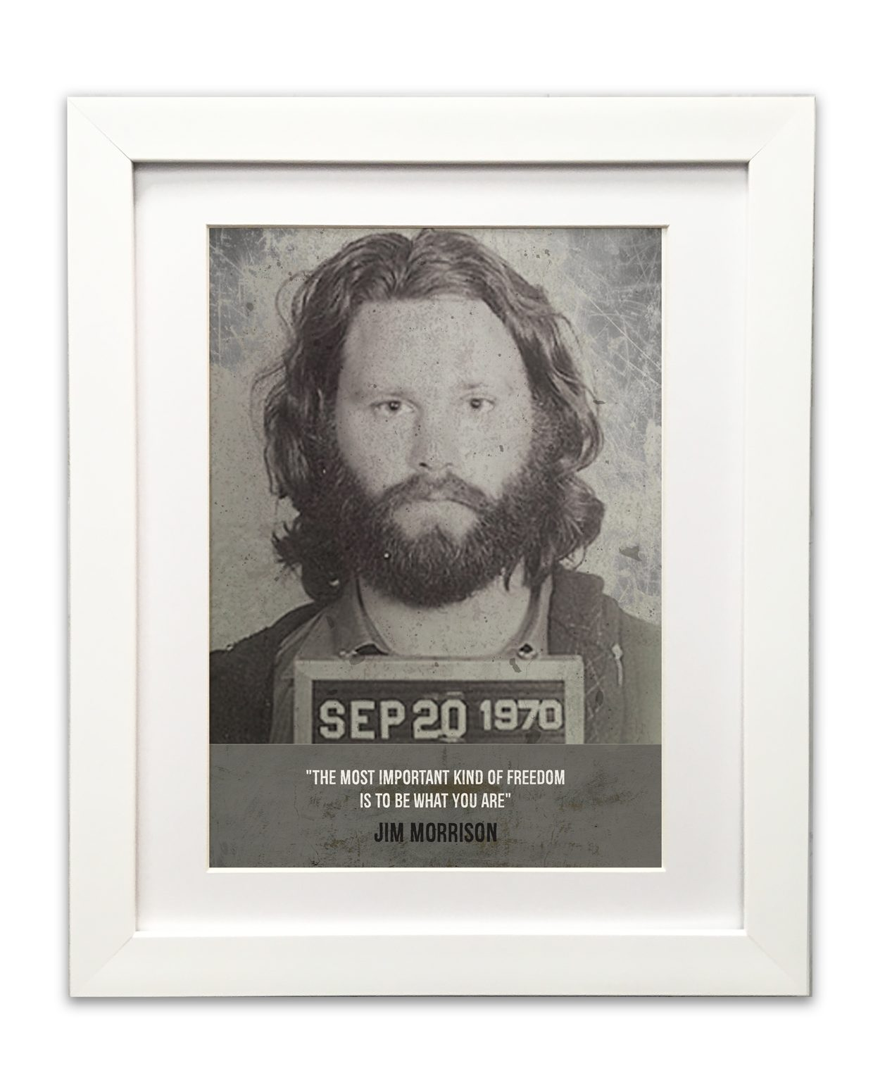 Jim-Morisson-Mugshot-White-Frame