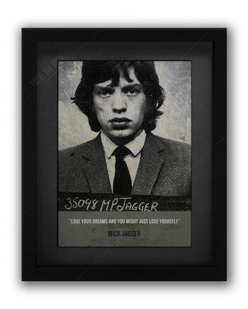 Mick Jagger Mugshot Print