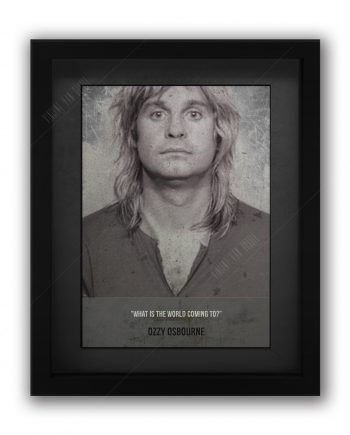Ozzy Osbourne Mugshot Print