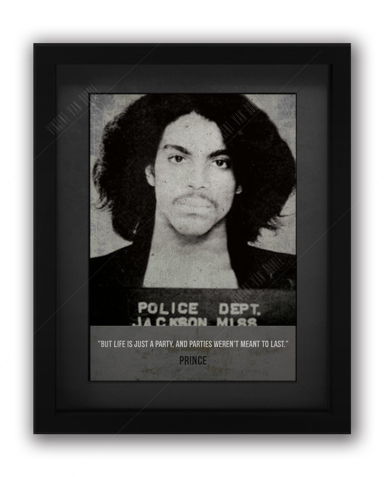 Prince-Framed-Mugshot-Black