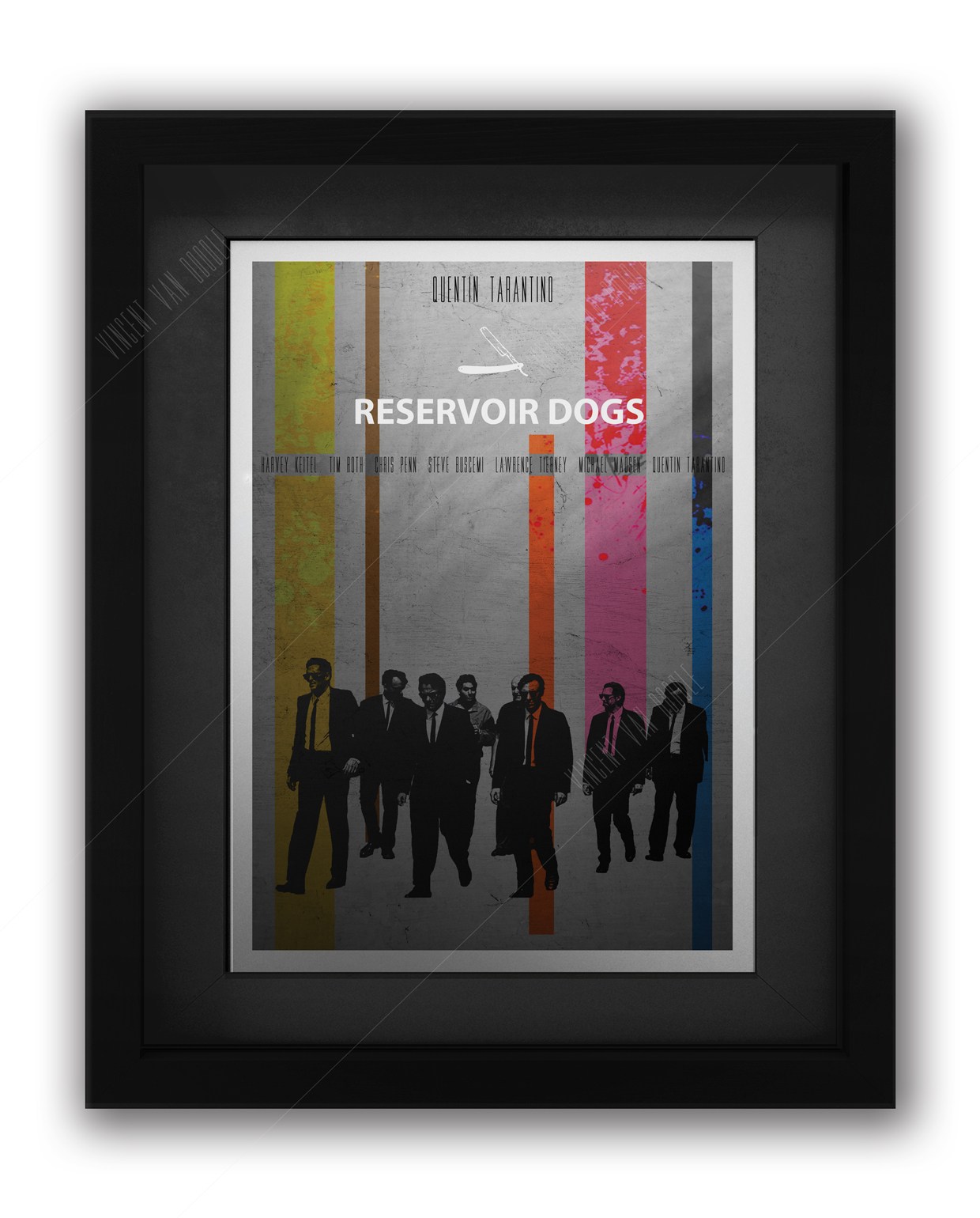 Reservoir dogs movie poster framed