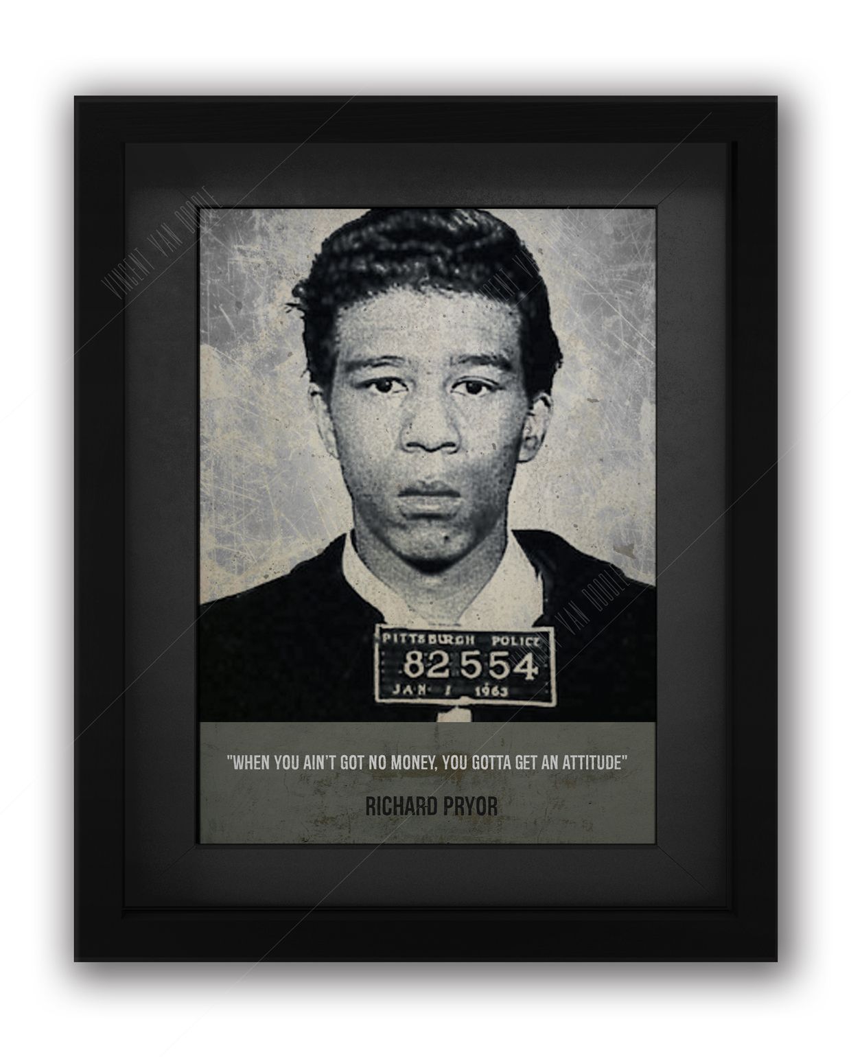 Richard Pryor Mugshot Print