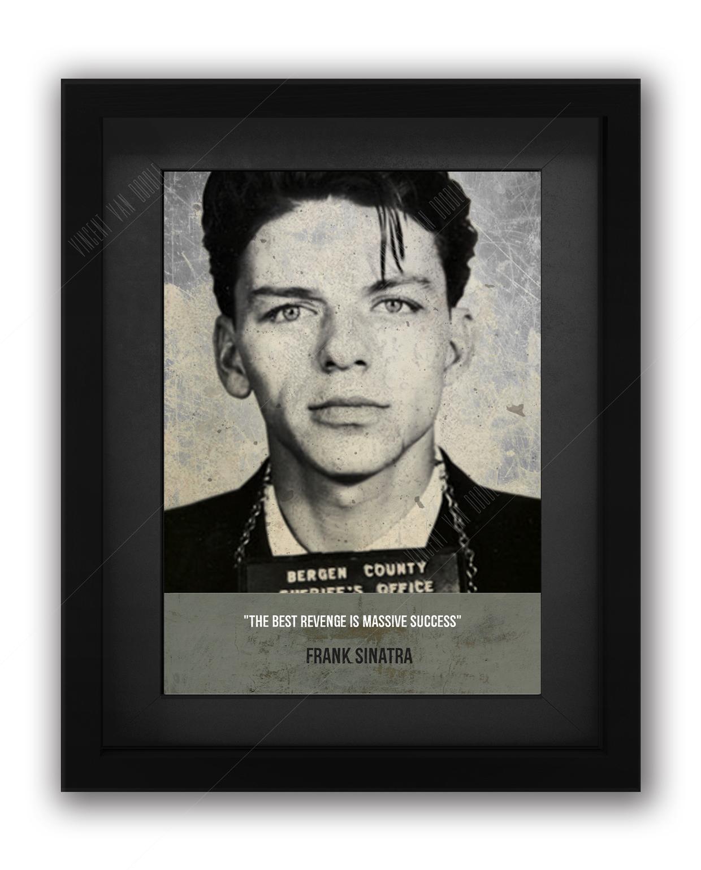 Frank Sinatra Mugshot Print