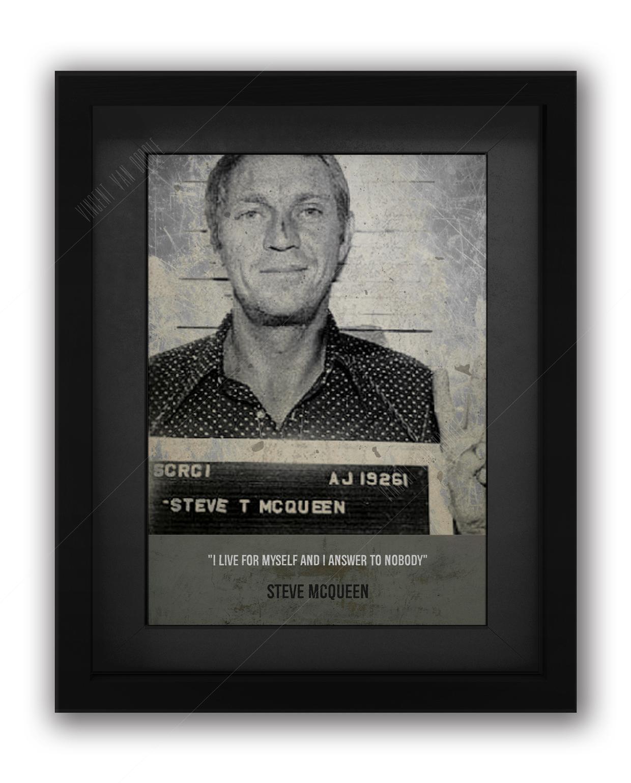 Steve McQueen Mugshot Print