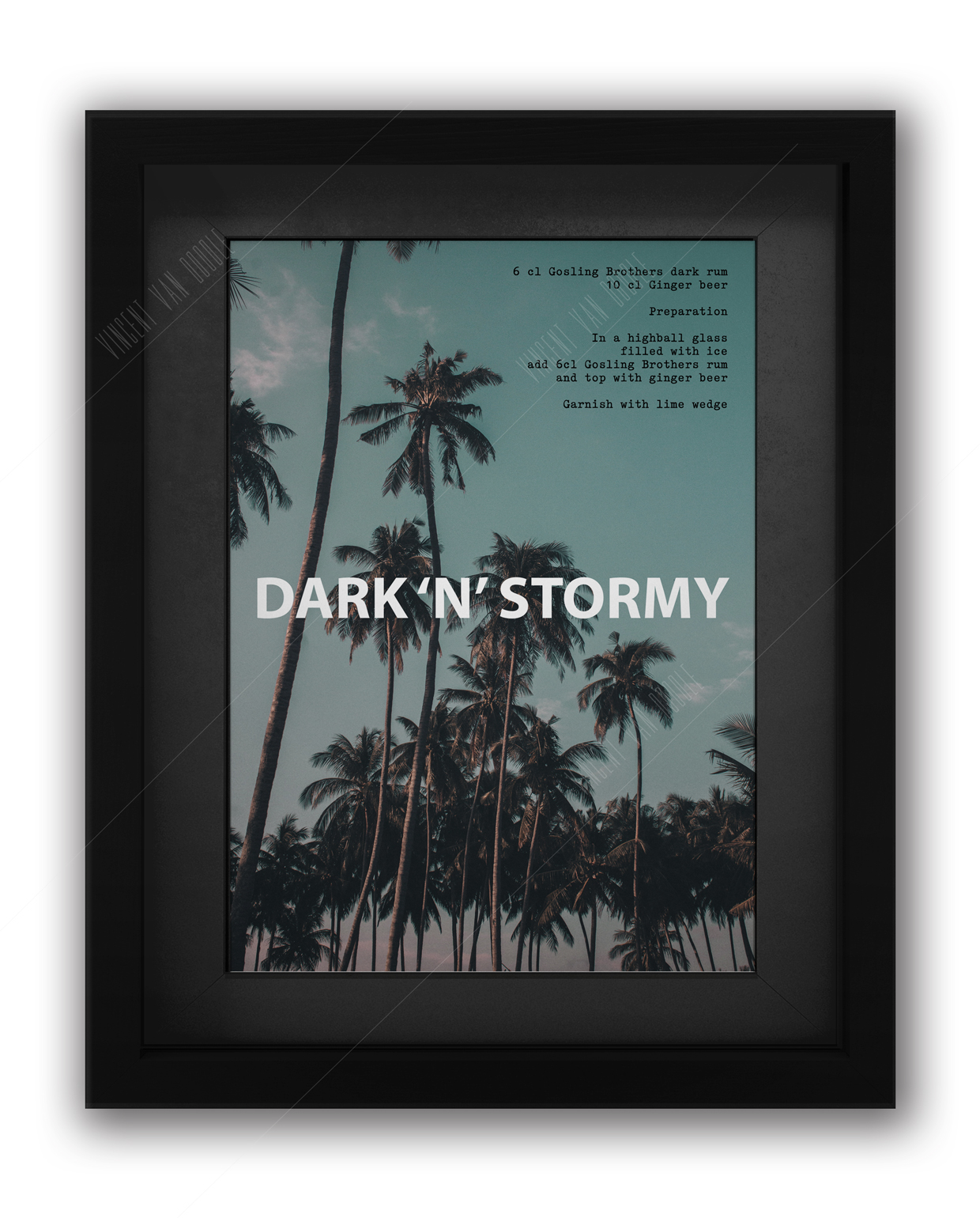 Dark N Stormy Cocktail Recipe Print