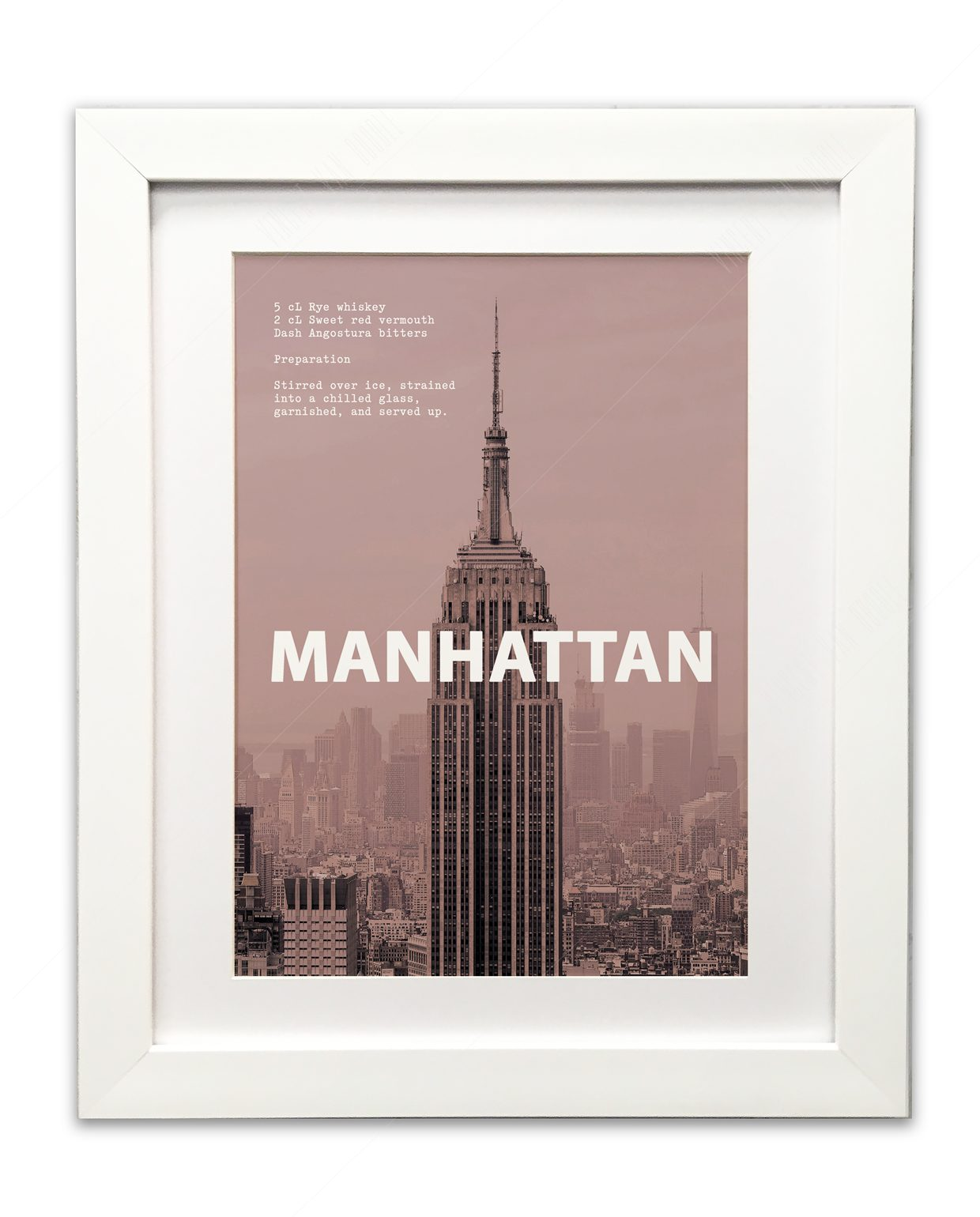 Manhatten-White-Framed