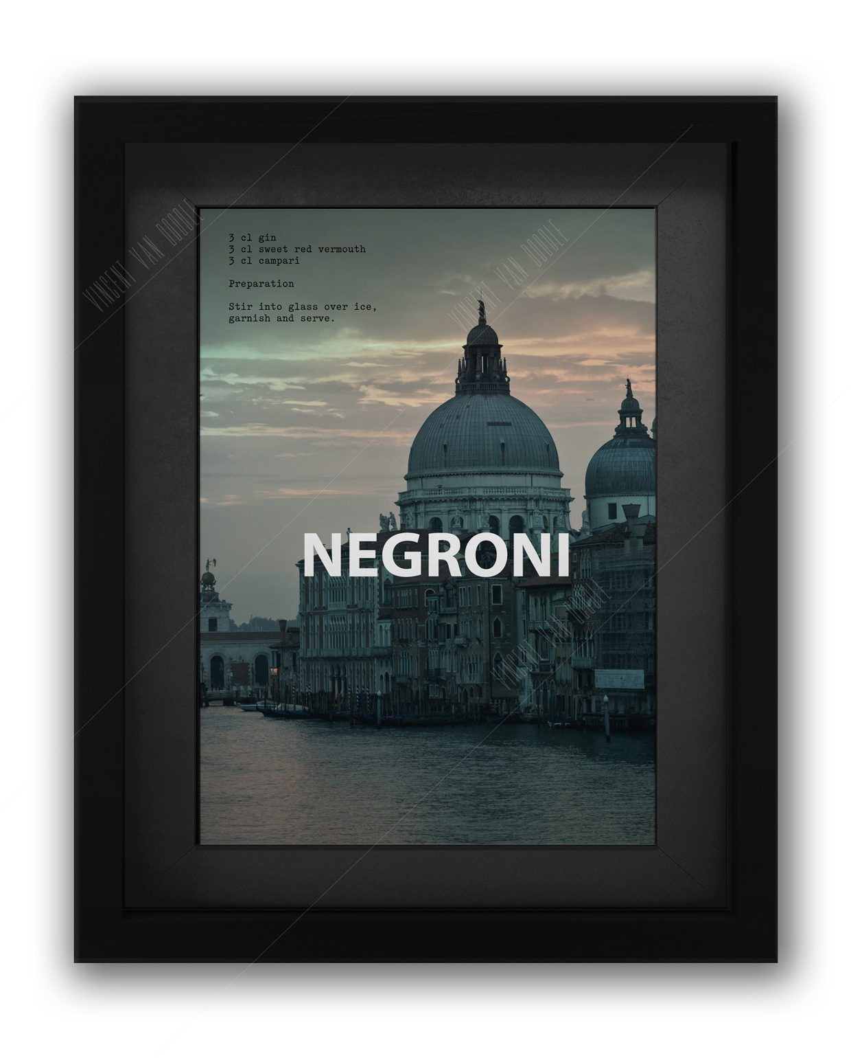 Negroni-Framed-Black