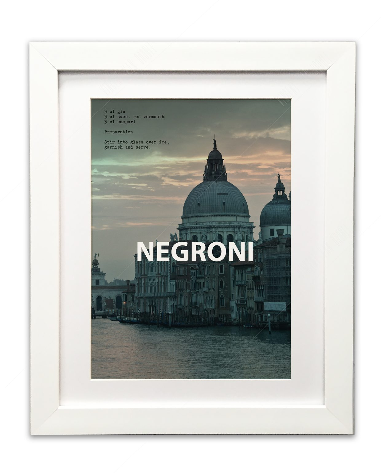 Negroni-Framed-WHite