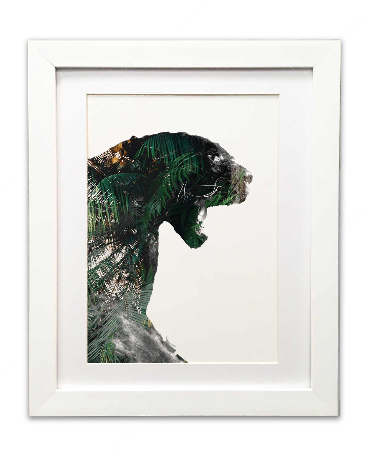 Panther-Green-and-Gold-White-Frame