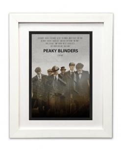 Peaky Blinders Gang Print in white