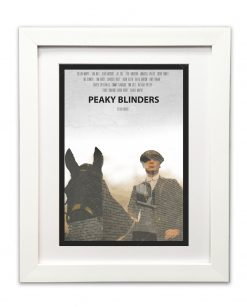Tommy Shleby Art Print in White Frame
