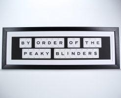Peaky card art black and white